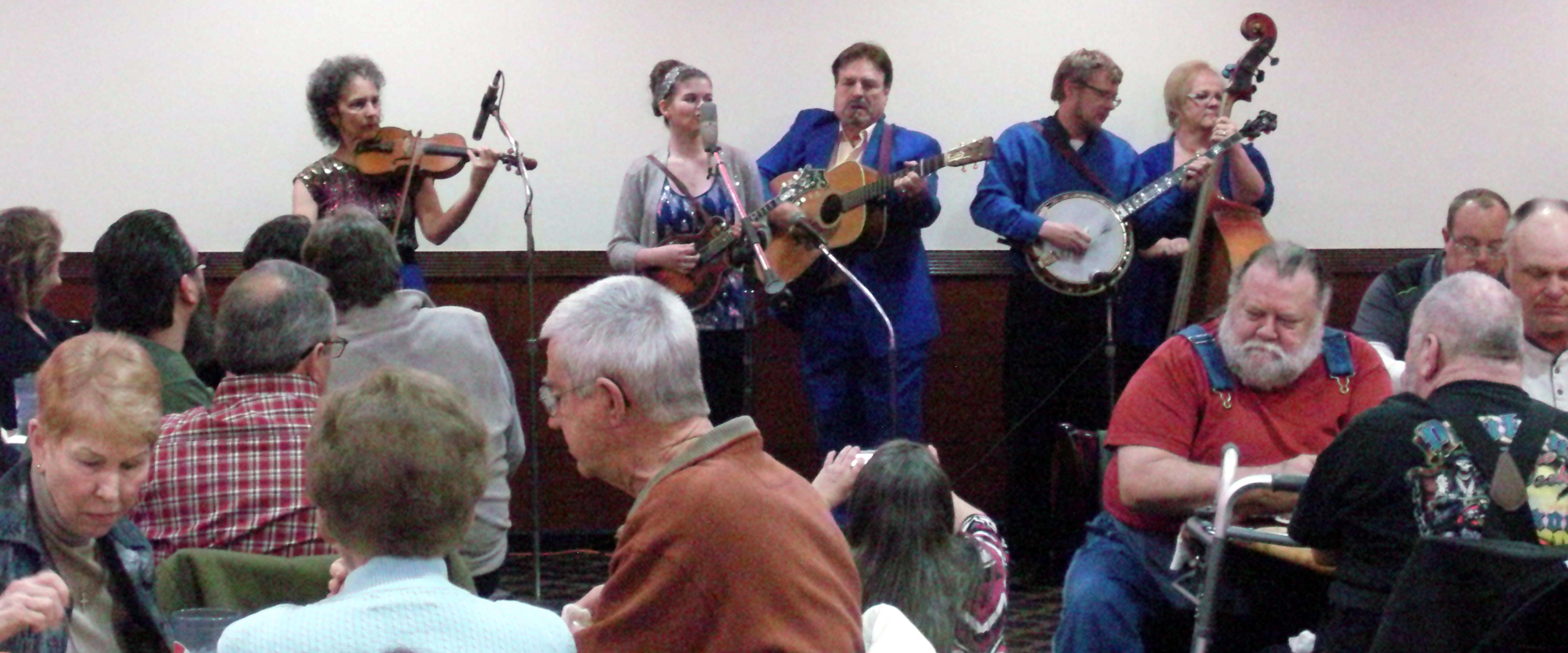 Vernon McIntyre's Appalachian Grass entertains at the 2016 Chinese Breakdown Dinner