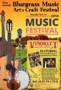2018 Vinoklet Bluegrass Festival poster